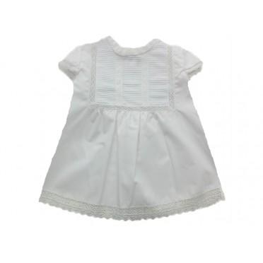 Pleat & Lace White Shirt