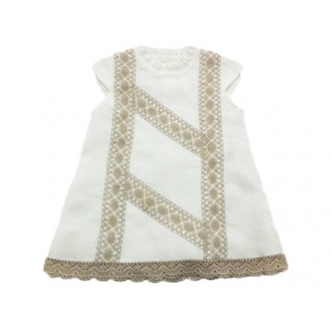 Stone Ivory Embroidery