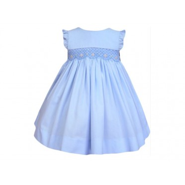 Blue Skies Smocked Dress
