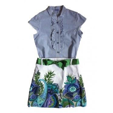 Cenefa Tropical Shirt and Skirt