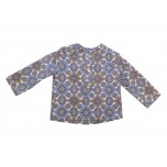 Camel Blue Flowers Blouse