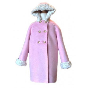 Faux Suede Coat - Hood