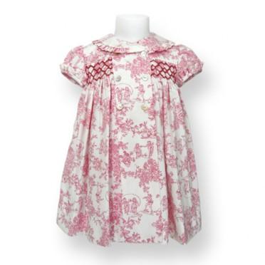 Classic Toile Smoked Dress