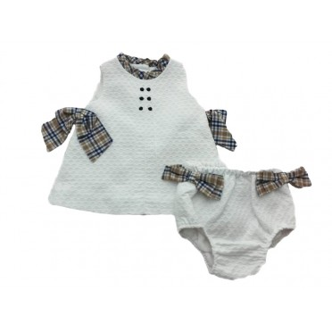 Summer Check Baby Girl Outfit