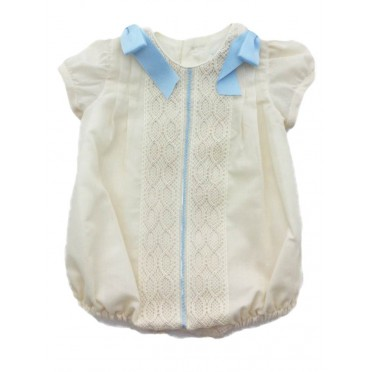 Cream Lace Romper Suit