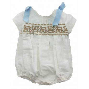Embroidered Romper Suit