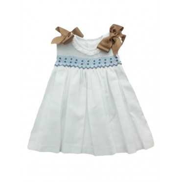 Bows Smocked Dress